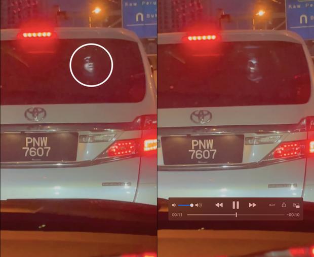 Ám ảnh gương mặt trắng toát xuất hiện đằng sau xe ô tô giữa đêm, mục đích của việc làm bị dân mạng lên án - Ảnh 2.