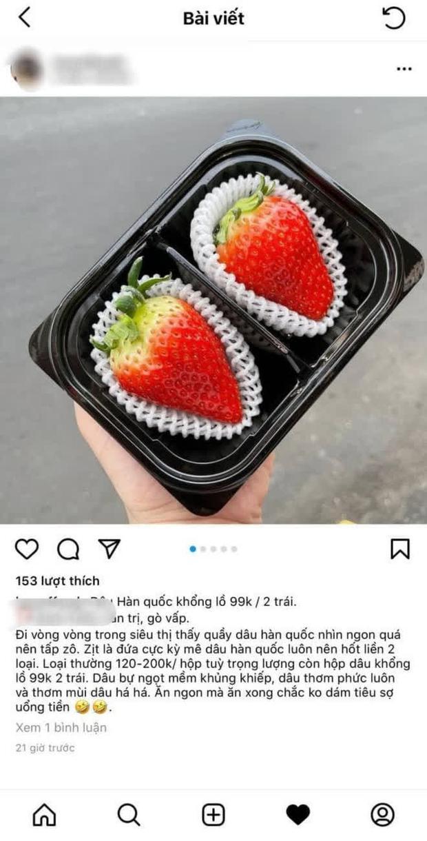 99k mua được 2 quả dâu tây khổng lồ Hàn Quốc: Cũng ngon nhưng ăn không bõ - Ảnh 2.