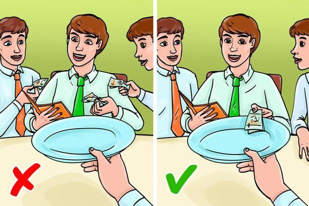12 quy tắc ứng xử chuẩn chỉnh của người thanh lịch trên bàn ăn đa phần mọi người đều mắc lỗi thường xuyên, nhất là điều số 3 - Ảnh 7.