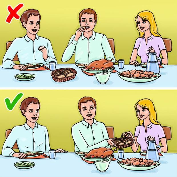 12 quy tắc ứng xử chuẩn chỉnh của người thanh lịch trên bàn ăn đa phần mọi người đều mắc lỗi thường xuyên, nhất là điều số 3 - Ảnh 8.