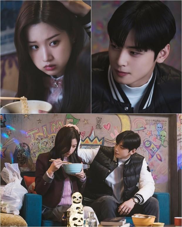 Cha Eun Woo tích cực thả thính Moon Ga Young ở True Beauty, phim tái sóng sau 1 tuần lận đận nhé cả nhà! - Ảnh 1.