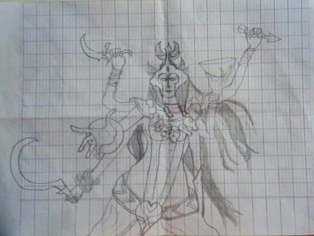 Khi game thủ Liên Quân trổ tài họa sĩ, mỗi tội vẽ xong không ai nhận ra đây là tướng nào - Ảnh 1.