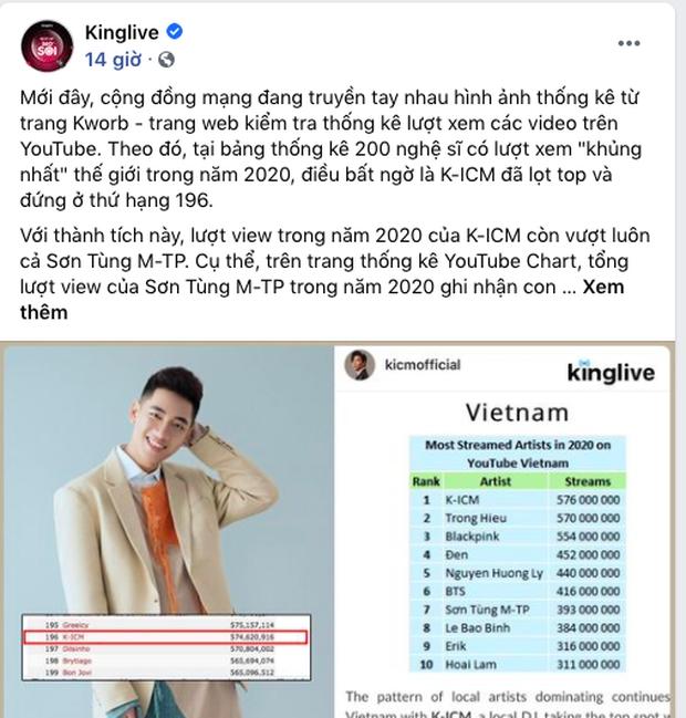 Netizen tranh cãi vì thành tích view khủng của K-ICM trong năm 2020: Toàn nhờ công Jack mà cũng tự hào? - Ảnh 9.