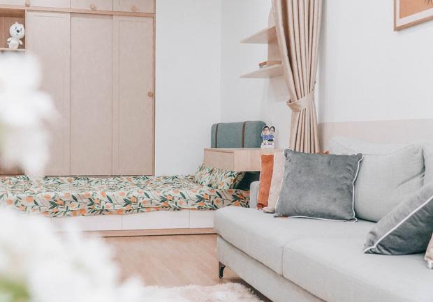 Căn hộ 82m2 của vợ chồng trẻ: Chọn bừa một chỗ là có góc để chill, ưng nhất vẫn là cách phối màu xinh xỉu - Ảnh 11.