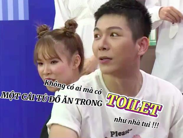 Lên show thực tế mà Khởi My - Kelvin Khánh tỉnh bơ kể thói ham ăn, tiết lộ để cả tủ đồ ăn vặt… trong toilet - Ảnh 2.