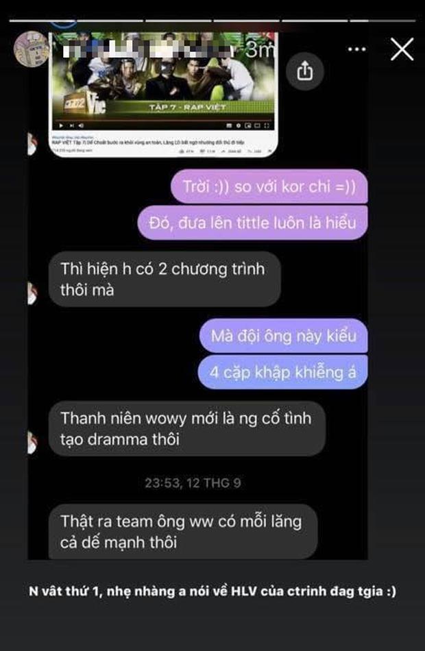 Biến mới: Hết bị tố lăng nhăng, R.Tee tiếp tục bị bạn gái cũ tung tin nhắn nói xấu Wowy, Ricky Star ở Rap Việt? - Ảnh 3.