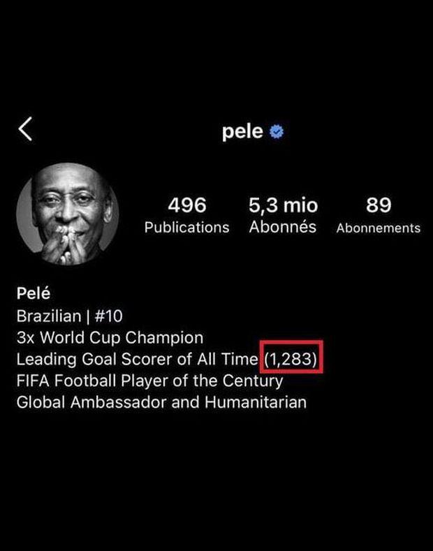 Pele đáp trả tin đồn chỉnh sửa trang cá nhân để phủ nhận thành tích của Ronaldo - Ảnh 3.