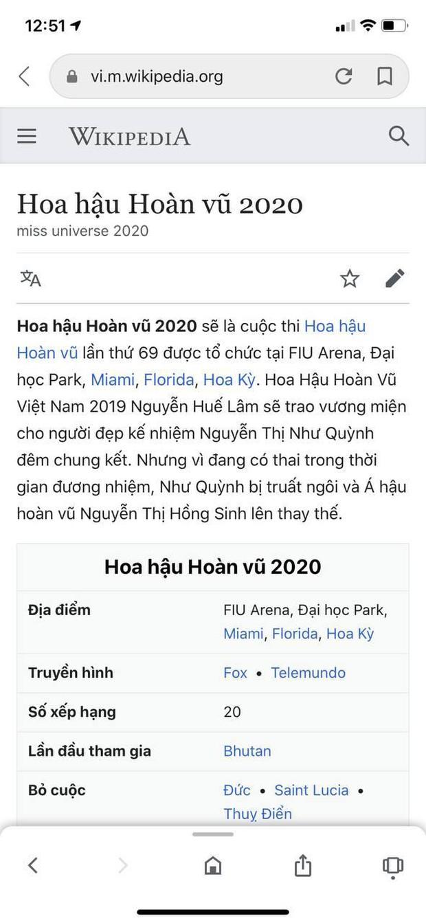 Wiki của HHHV thế giới 2020 bỗng hiện toàn thông tin lạ, Khánh Vân bất ngờ trở thành tân Hoa hậu, chuyện gì đây? - Ảnh 3.