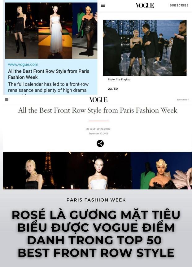 Rosé được Vogue vinh danh tại Fashion Week, nhìn ảnh hậu trường mà netizen chỉ điểm ngay bí mật của sao - Ảnh 1.