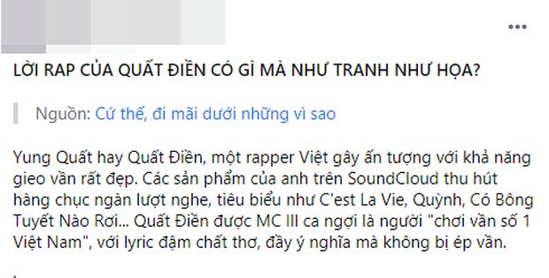 Nam rapper nằm ngoài sự chỉ trích hướng về làng rap, sáng tác sao được netizen khen như tranh như hoạ, gieo vần số 1 Việt Nam? - Ảnh 2.