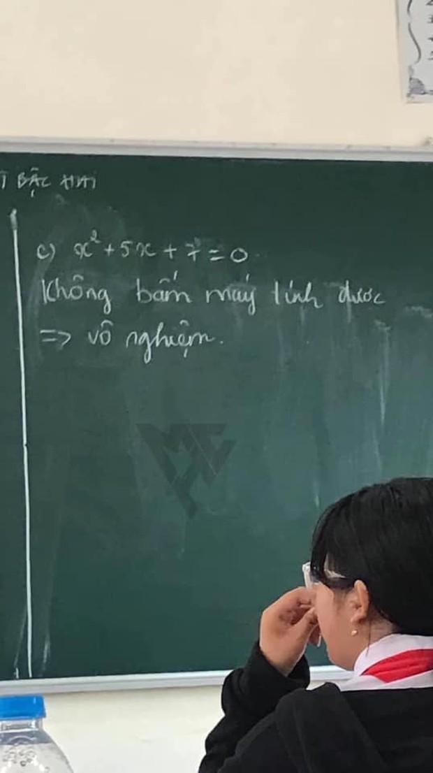 Giáo viên yêu cầu giải bài Toán cơ bản, học trò cợt nhả ghi một dòng xem xong chỉ muốn cho 0 điểm - Ảnh 1.