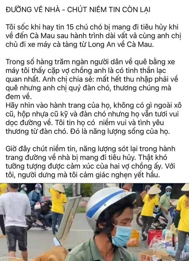 CĐM xót xa khi nghe tin 15 chú chó ở Cà Mau bị tiêu hủy: Nghèo khó nhưng không bỏ nhau, vậy mà chuyến phượt xa nhất cũng là hành trình cuối cùng - Ảnh 2.