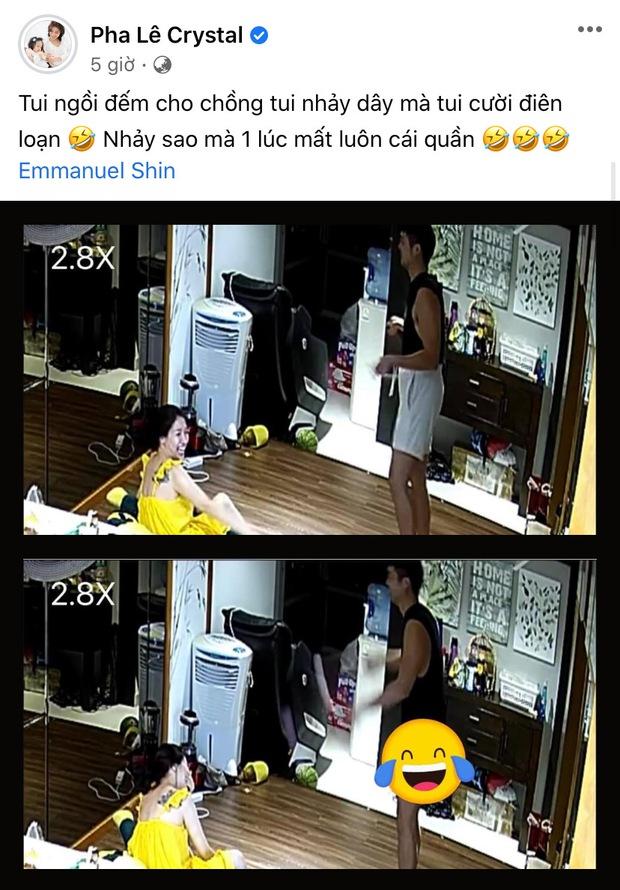 Chồng 1 nữ ca sĩ nhảy dây đến tụt quần, bà xã trích xuất luôn camera đăng lên mạng khiến netizen cười xỉu - Ảnh 2.