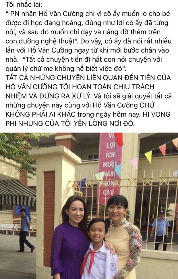 Quản lý cố ca sĩ Phi Nhung lên tiếng chuyện cát xê của Hồ Văn Cường: Tôi hoàn toàn chịu trách nhiệm và xử lý! - Ảnh 3.