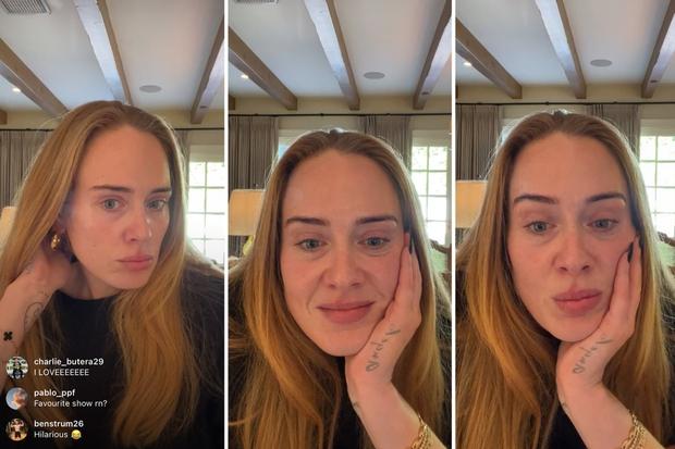 Bóc trần mặt mộc của Adele hậu giảm 45kg: Da mặt căng mịn, visual đẹp xuất sắc lột xác át cả khuyết điểm vùng mắt - Ảnh 7.