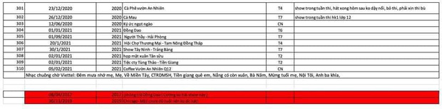 Xôn xao danh sách 310 đêm diễn và sự kiện của Hồ Văn Cường 5 năm qua, có show hát về mệt quá nên hôm sau phải bỏ thi trên trường? - Ảnh 7.