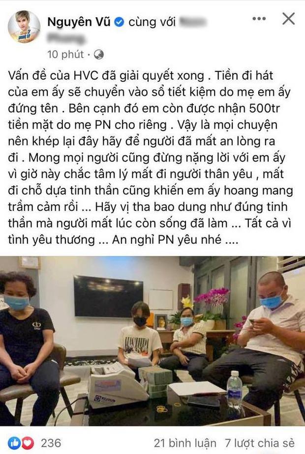 Ca sĩ Vbiz đầu tiên lên tiếng sau khi Hồ Văn Cường nhận đủ tiền cát xê từ ekip Phi Nhung: Mong mọi người đừng nặng lời với em ấy - Ảnh 2.