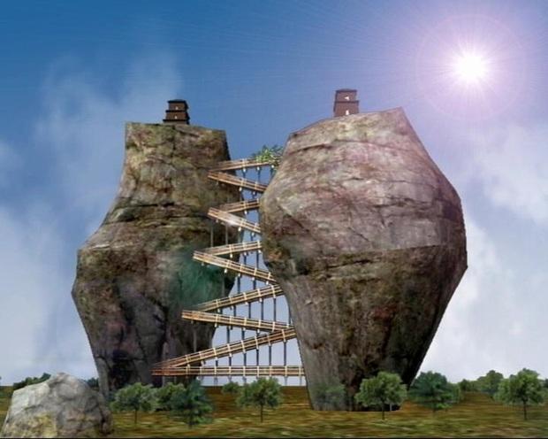 Tháp đôi trăm tuổi sừng sững trên cột đá 40m, du khách nào đến cũng cùng câu hỏi: Không đường lên thì xây kiểu gì? - Ảnh 4.