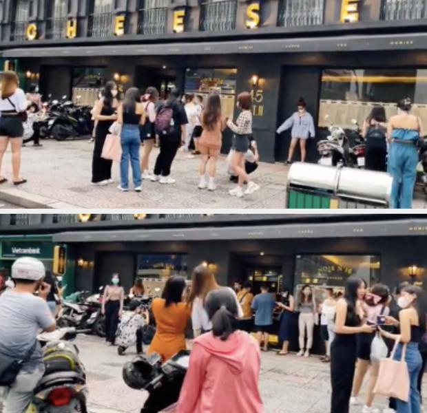 Cảnh đông nghẹt tại quán cà phê hot nhất Sài Gòn qua camera người đi đường, dân mạng e dè: Chờ check-in chắc ăn được 3 tô cơm! - Ảnh 3.
