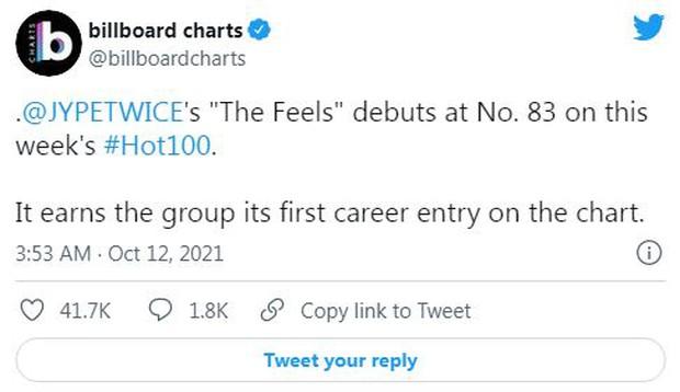 TWICE lần đầu xuất hiện tại Billboard Hot 100 sánh vai BLACKPINK và Wonder Girls, BTS rớt hạng nhanh chóng sau No.1 tuần trước - Ảnh 1.