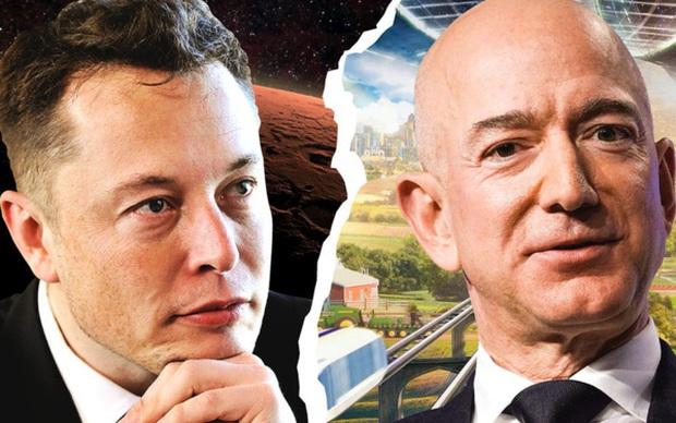 Elon Musk bình luận dạo trong bài đăng của Jeff Bezos, cà khịa ông chỉ là số 2 thôi, tôi mới giàu số 1 - Ảnh 1.