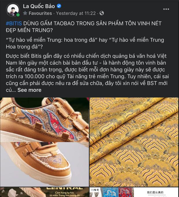 Bitis vướng nghi vấn dùng gấm Taobao trong sản phẩm tôn vinh tinh thần Việt Nam? - Ảnh 2.