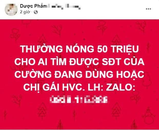 Nữ đại gia hứa thưởng nóng 50 triệu đồng cho ai tìm được số điện thoại của Hồ Văn Cường gây xôn xao MXH - Ảnh 1.