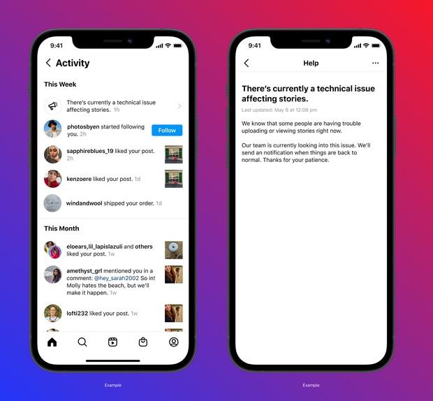 Instagram đang thử nghiệm tính năng thông báo cho người dùng khi ứng dụng gặp lỗi - Ảnh 2.