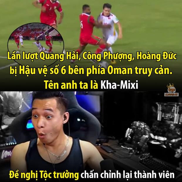 Độ Mixi bất ngờ bị cộng đồng réo tên chỉ vì một cầu thủ Oman, người liên tiếp truy cản Quang Hải, Công Phượng - Ảnh 3.