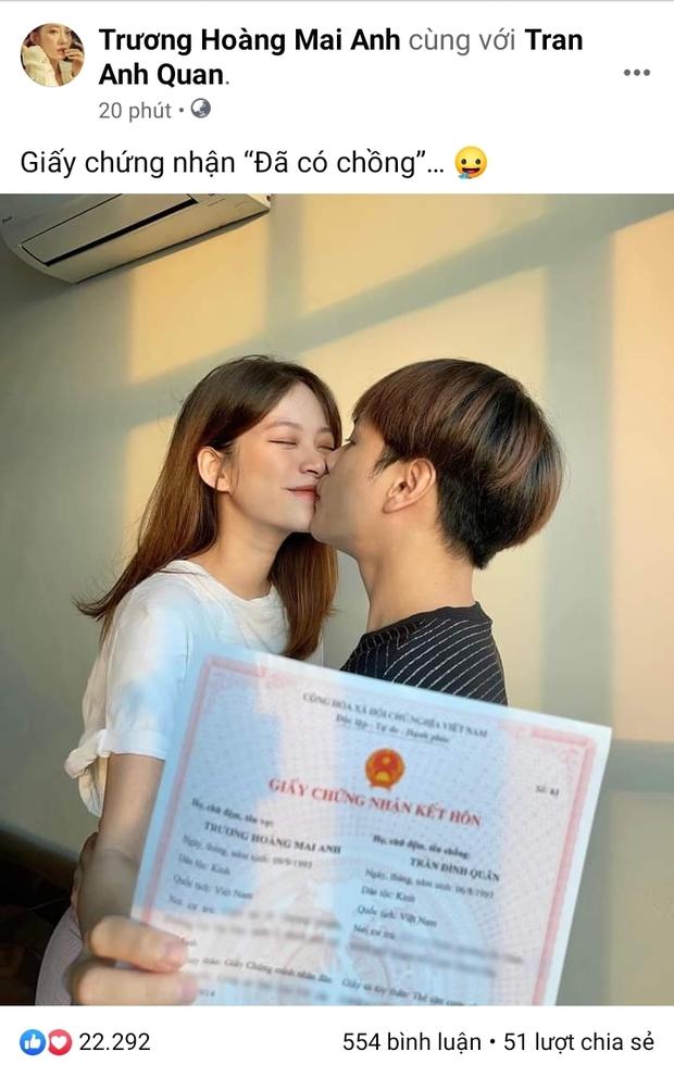 Khoe giấy đăng kí kết hôn, vợ chồng Jaykii bị netizen kém duyên phán bỏ nhau sớm, chính chủ liền đáp trả cực gắt! - Ảnh 2.