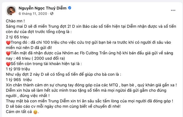 Thuý Diễm chính thức lên tiếng sau khi bị CEO Đại Nam gọi tên vào drama sao kê tiền từ thiện miền Trung! - Ảnh 3.