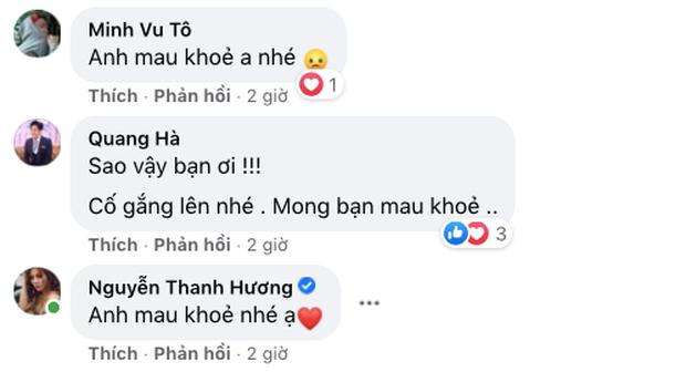 Một nam ca sĩ phải nhập viện phẫu thuật dạ dày, Quang Hà, Phương Oanh và dàn sao vô cùng lo lắng - Ảnh 3.