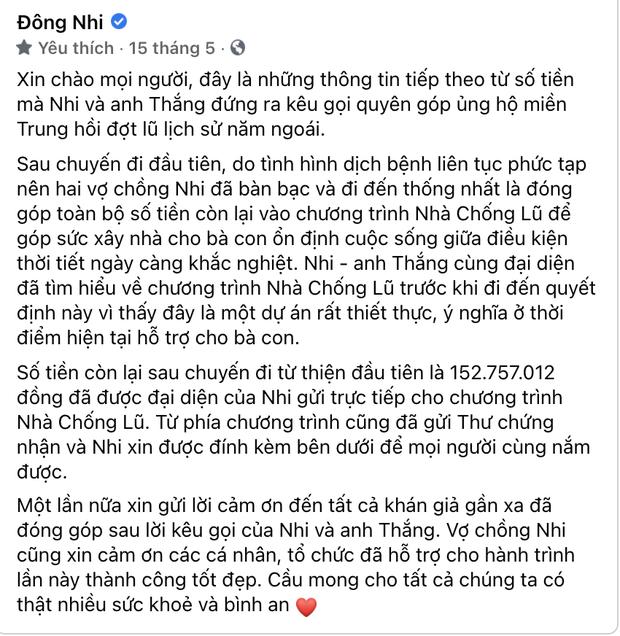 Phía Đông Nhi chính thức lên tiếng về vấn đề từ thiện sau khi bị nữ CEO Đại Nam gọi tên trên sóng livestream - Ảnh 4.