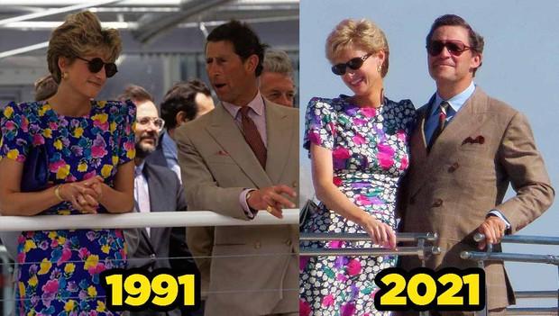 Hú hồn ảnh hậu trường Công nương Diana của phim The Crown bị lộ, phát ngất vì sao y bản chính không phân biệt nổi! - Ảnh 4.