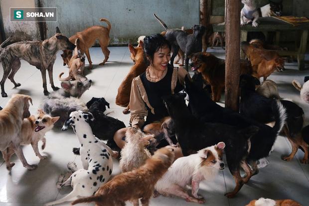Cặp vợ chồng cưu mang 100 con chó, mèo bị chủ F0 bỏ rơi mùa dịch: Chúng tôi không sinh con để chu toàn cho tụi nhỏ - Ảnh 2.