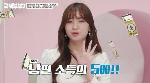 Cô dâu Việt xinh đẹp từng rơi nước mắt khi mới sang Hàn nay xuất hiện trên truyền hình khoe thu nhập cao gấp 5 lần chồng - Ảnh 3.