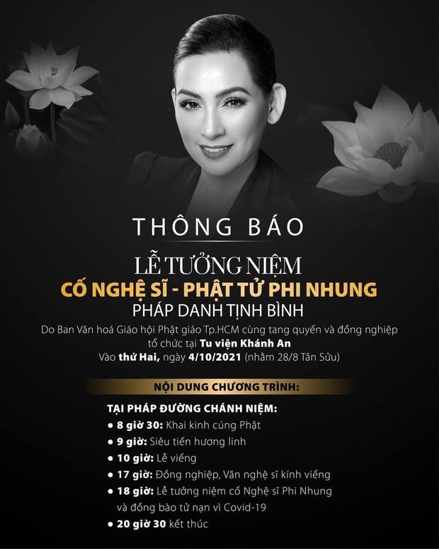 Thông tin chính thức về lễ tưởng niệm của ca sĩ Phi Nhung: Quy định rõ cấm chụp hình, livestream và phải tuân thủ nguyên tắc 5K - Ảnh 3.