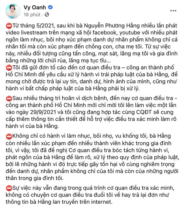 NÓNG: Vy Oanh tung rõ tiến trình kiện tụng CEO Đại Nam, khẳng định không có chuyện bị cơ quan điều tra đuổi về - Ảnh 3.
