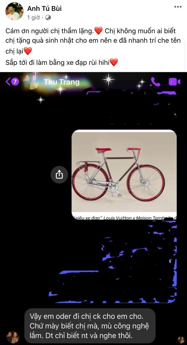 Thu Trang chốt đơn tặng Anh Tú chiếc xe đạp nhân dịp sinh nhật, nếu biết giá 670 triệu liệu có bật ngửa? - Ảnh 2.