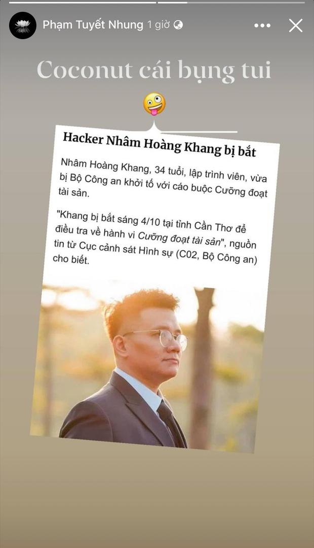 Cậu IT Nhâm Hoàng Khang bị bắt, con gái nuôi cố ca sĩ Phi Nhung chỉ nói 1 câu thể hiện rõ thái độ! - Ảnh 2.