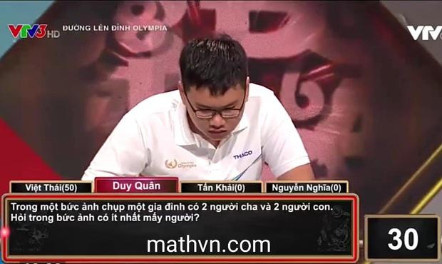 Câu hỏi Olympia hack não: Có 2 người cha, 2 người con. Hỏi có ít nhất bao nhiêu người, trả lời khác 4 chứng tỏ IQ rất cao! - Ảnh 1.