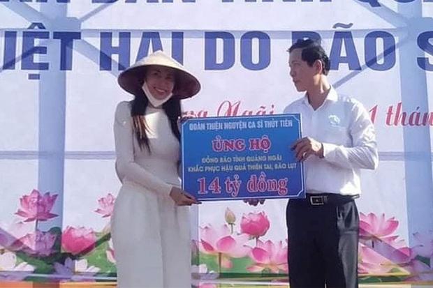 Ekip Thuỷ Tiên thông báo tỉnh Quảng Ngãi xác minh nhận 14 tỷ đồng quyên góp, đã cung cấp đầy đủ chứng từ với cơ quan điều tra - Ảnh 3.