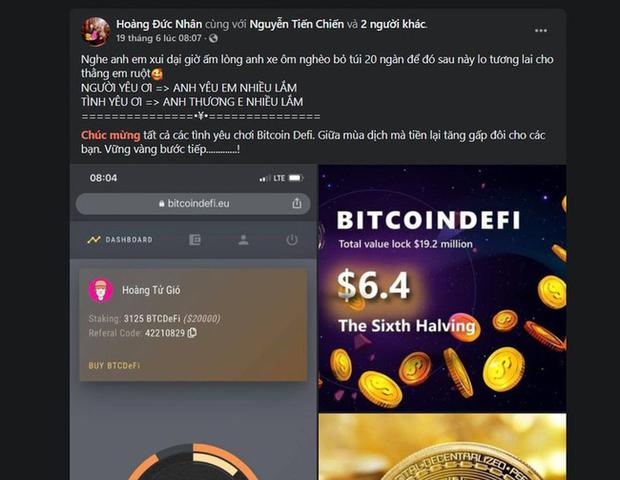 Hoàng Tử Gió Hoàng Đức Nhân từng có quan hệ mật thiết với thủ lĩnh BitcoinDeFi - sàn tiền ảo khiến nhiều người tán gia bại sản - Ảnh 1.