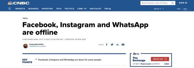 Báo chí thế giới rầm rộ chuyện Facebook sập: Tự nhiên nguyên một hệ sinh thái của Mark xoăn đóng băng - Ảnh 2.