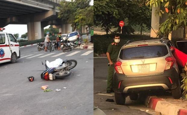 Hà Nội: Nữ tài xế điều khiển ô tô va chạm với xe máy khiến người đàn ông tử vong - Ảnh 1.