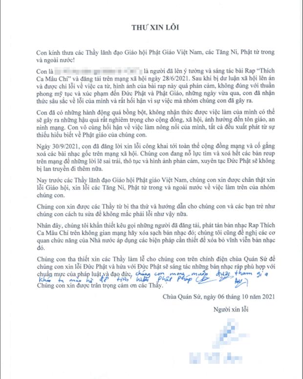 Nhóm rapper xúc phạm Phật giáo đã đến chùa sám hối và xin tham gia khóa tu mùa hè, Giáo hội Phật giáo Việt Nam cũng lên tiếng - Ảnh 7.
