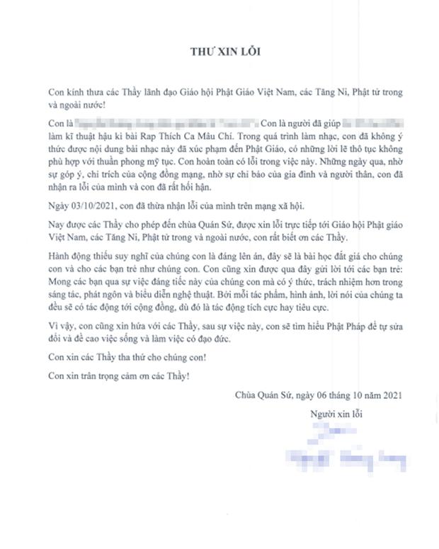 Nhóm rapper xúc phạm Phật giáo đã đến chùa sám hối và xin tham gia khóa tu mùa hè, Giáo hội Phật giáo Việt Nam cũng lên tiếng - Ảnh 9.