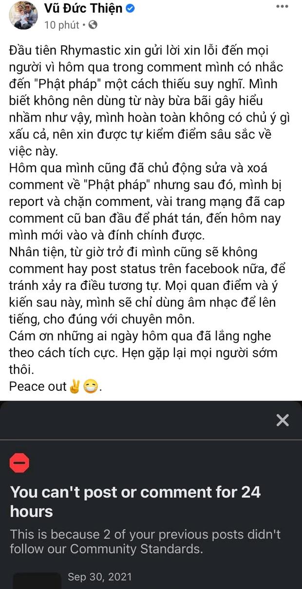 Loạt rapper sau khi bị chỉ trích: Rhymastic giải thích và xin rút kinh nghiệm, Bình Gold nhận sai, nhóm rapper đến Chùa sám hối - Ảnh 4.