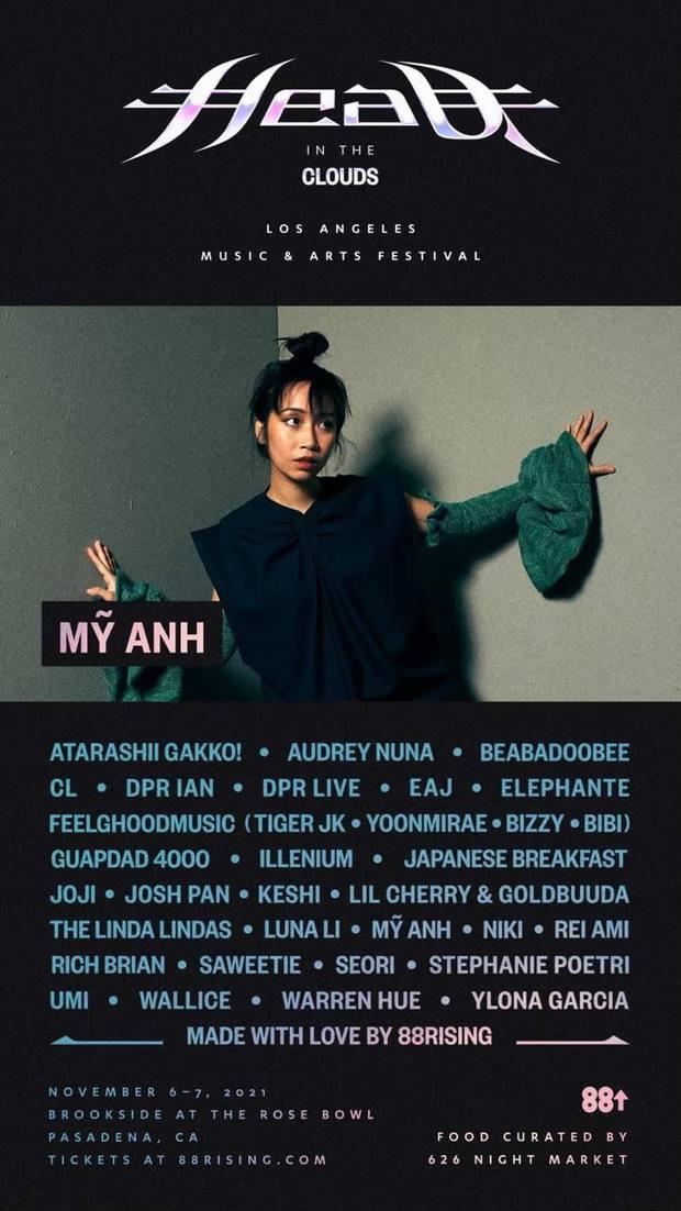 Mỹ Anh quá đỉnh: Chuẩn bị sang Mỹ hát chung sân khấu với CL (2NE1), hoàng tử lofi cùng 1 loạt nghệ sĩ indie nổi tiếng thế giới - Ảnh 2.