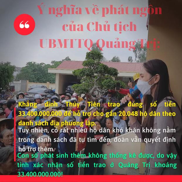 Phía Thuỷ Tiên làm rõ lý do không thống kê được chính xác số tiền từ thiện ở Quảng Trị? - Ảnh 4.